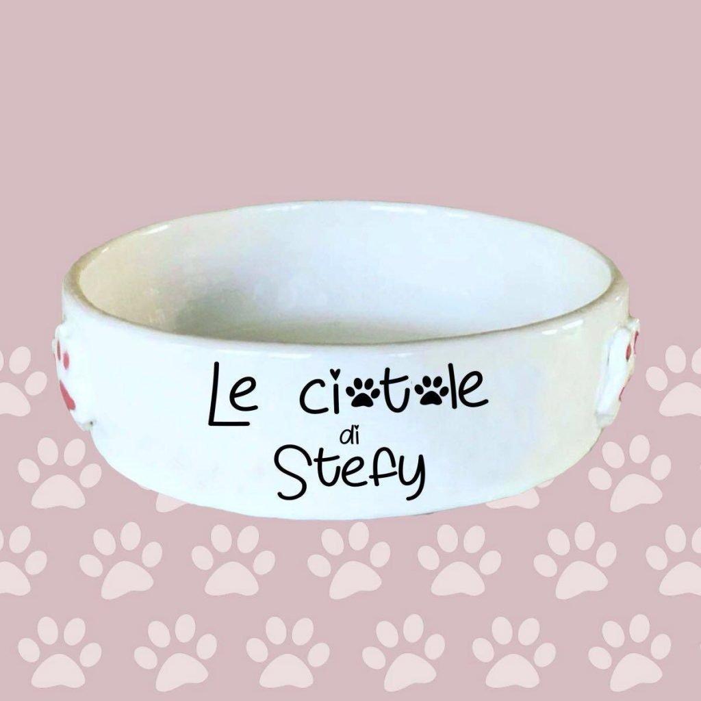 ciotole per cane e gatto in ceramica personalizzate